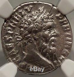 PERTINAX 293AD Rare Rome Denarius NGC Certified Ch VF Ancient Roman Coin i53833