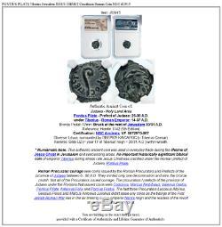 PONTIUS PILATE Tiberius Jerusalem JESUS CHRIST Crucifixion Roman Coin NGC i83915