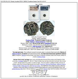 PONTIUS PILATE Tiberius Jerusalem JESUS CHRIST Crucifixion Roman Coin NGC i83919