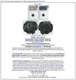 PONTIUS PILATE Tiberius Jerusalem JESUS CHRIST Crucifixion Roman Coin NGC i83975