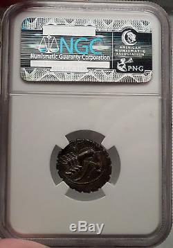 ROMAN REPUBLIC 83BC Balbus NGC Certified AU Silver Denarius Ancient Coin SUPERB