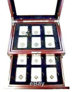 Rise & Fall of the Roman Empire 48 NGC Certified Coins, 36 bronze, 12 silver