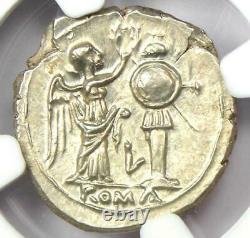 Roman AR Victoriatus Jupiter Victory Coin 211 BC NGC Choice MS and 5/5 Surface