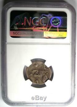 Roman Anonymous AR Denarius Silver Coin 115 BC Certified NGC Choice Fine