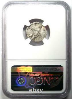 Roman Antoninus Pius AR Denarius Silver Coin 138-161 AD. Certified NGC Choice XF