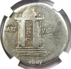 Roman Augustus AR Cistophorus Coin 27 BC 14 AD Certified NGC Good