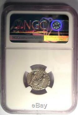 Roman Augustus AR Denarius Coin Lugdunum 27 BC 14 AD NGC Choice VF