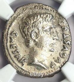Roman Augustus and Agrippa AR Denarius Rome Coin 13 BC Certified NGC XF