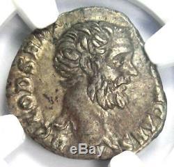 Roman Clodius Albinus AR Denarius Coin 195-197 AD Certified NGC XF Condition