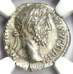 Roman Commodus AR Denarius Silver Coin 177-192 AD Certified NGC Choice XF (EF)
