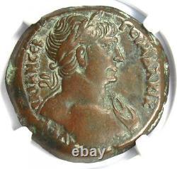 Roman Egypt Alexandria Trajan AE Drachm Coin 114 AD Certified NGC Choice VF