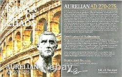 Roman Emperor Aurelian Coin NGC Certified XF, With Story, Certificate