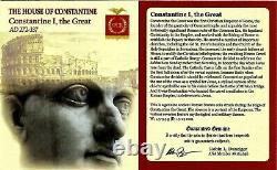 Roman Emperor Constantine The Great Coin Jovi Conservatori NGC Certified AU