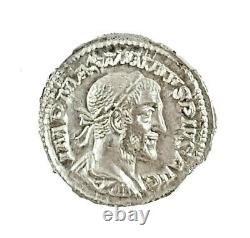 Roman Emperor Maximinus I Silver Denarius Coin NGC Certified AU With Story