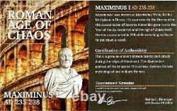 Roman Emperor Maximinus I Silver Denarius Coin NGC Certified XF With Story