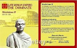 Roman Emperor Maximinus II Bronze Bi Nummus Coin NGC Certified AU With Story