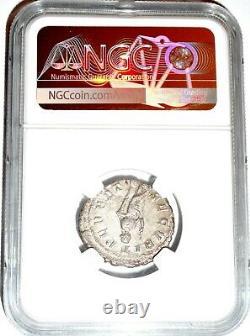 Roman Emperor Silver Denarius of Gordian III Coin NGC Certified AU & Story