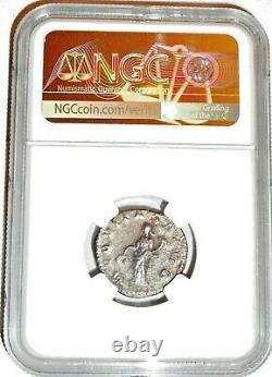 Roman Emperor Silver Volusian Coin NGC Certified VF With Story, Certificate