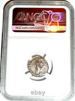 Roman Emperor Trajan Drachm Coin NGC Certified VF With Story, Certificate