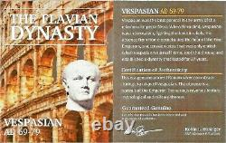 Roman Emperor Vespasian Silver Denarius Coin NGC Certified With Story