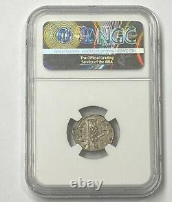 Roman Empire Antoninus Pius AD 138-161 Silver Denarius Rare NGC CHMS Superb Coin