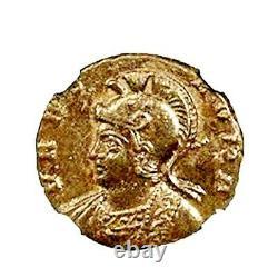 Roman Empire Constantine, Bi Nummus Roma / SheWolf & Twins Coin NGC Certified AU