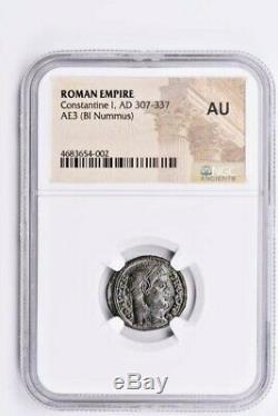Roman Empire, Constantine I AE3 (BI Nummus) AD 307-337 NGC AU Witter Coin
