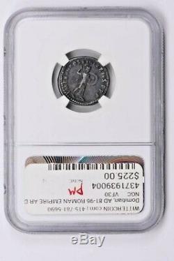 Roman Empire, Domitian AR Denarius AD 81-96 NGC Ch VF Fine Style Witter Coin