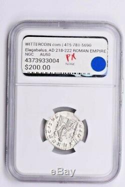 Roman Empire, Elagabalus AR Double-Denarius AD 218-222 NGC AU Witter Coin