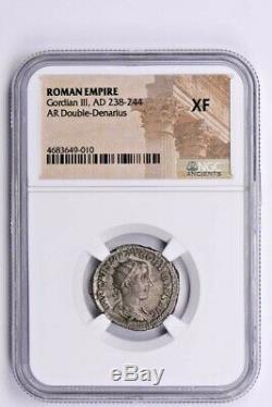Roman Empire, Gordian III AR Double-Denarius AD 238-244 NGC XF Witter Coin