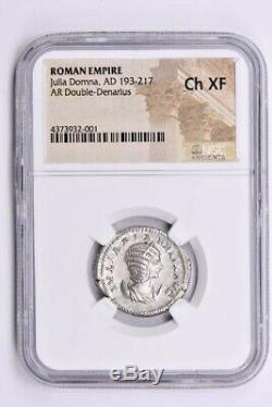 Roman Empire, Julia Domna AR Double-Denarius AD 193-217 NGC Ch XF Witter Coin