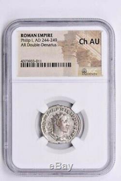 Roman Empire, Philip I AR Double-Denarius AD 244-249 NGC Ch AU Witter Coin