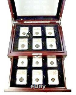 Roman Empire Rulers 24 Bronze Coins NGC Certified-VF or Better, 253 423 AD