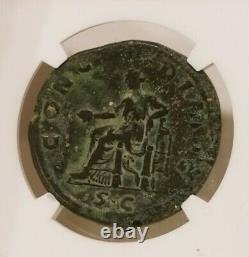 Roman Empire Sabina Sestertius NGC Choice Fine Ancient Coin