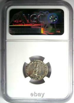 Roman Empire Trajan AR Denarius Silver Coin 98-117 AD Certified NGC AU