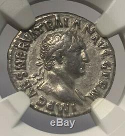 Roman Empire Trajan Silver Denarius Ad 98 117 Ngc Certified Ancient Coin