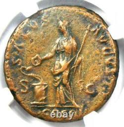 Roman Hadrian AE As Coin 117-138 AD NGC Choice VF with Fine Style (FS)