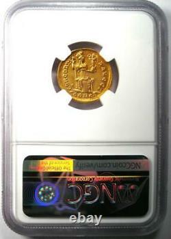 Roman Honorius AV Solidus Gold Coin 393-423 AD Certified NGC AU