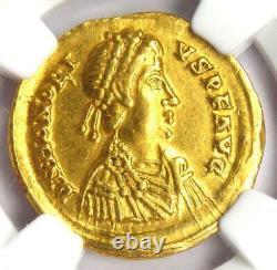 Roman Honorius AV Solidus Gold Coin 393-423 AD Certified NGC XF (EF)