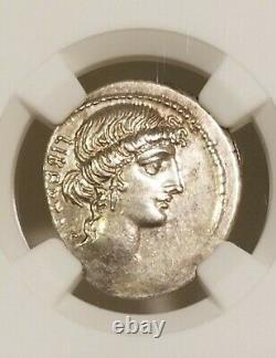 Roman Imperatorial Brutus Denarius NGC Choice XF Ancient Silver Coin
