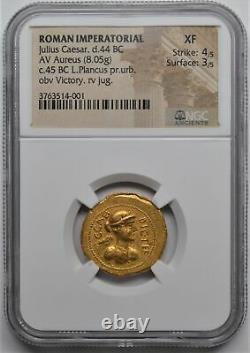 Roman Imperatorial Julius Caesar 44bc Av Aureus Gold Coin Ngc Ancients Xf