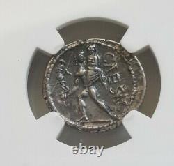 Roman Imperatorial Julius Caesar Denarius Venus NGC CH XF Ancient Coin