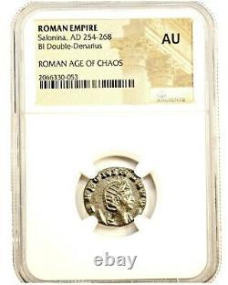 Roman Julia Cornelia Salonina Bronze Coin NGC Certified AU & Story Certificate