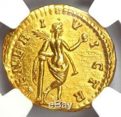 Roman Julia Domna Gold AV Aureus Venus Coin 193-217 AD NGC Choice AU