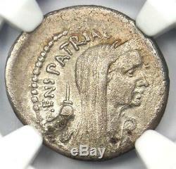 Roman Julius Caesar AR Denarius Maridianus Coin 44 BC Certified NGC Choice VF