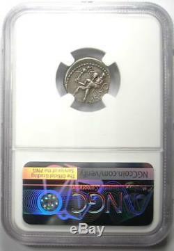 Roman Julius Caesar AR Denarius Silver Coin 48 BC with Venus, Aeaneas NGC VF
