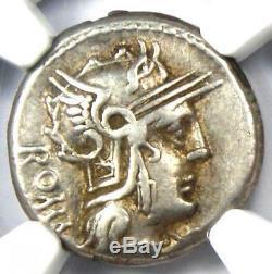 Roman M. Cae. Metellus AR Denarius Silver Coin 127 BC Certified NGC Choice VF