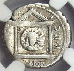 Roman Marc Antony AR Denarius Military Coin 42 BC Certified NGC VG (Very Good)