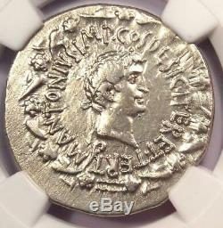 Roman Marc Antony and Octavia AR Cistophorus Coin 39 BC. Certified NGC Choice VF
