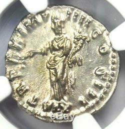 Roman Marcus Aurelius AR Denarius Coin (161-180 AD) Certified NGC MS (UNC)